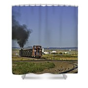 End Of Standard Gauge Shower Curtain