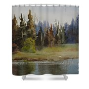 End Of The Lagoon Shower Curtain
