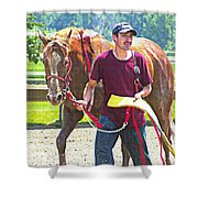 End Of The Race Shower Curtain