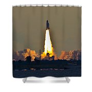 Endeavor Blast Off Shower Curtain