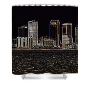 Energized Tampa - Digital Art Shower Curtain