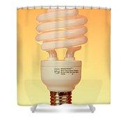 Energy Saving Light Bulb Shower Curtain