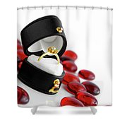Engagement Ring Shower Curtain