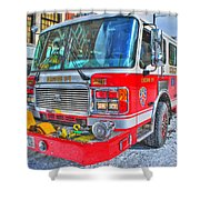 Engine 34 Readied Up Shower Curtain