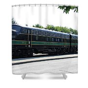 Engine 902 - Reading Lines Shower Curtain