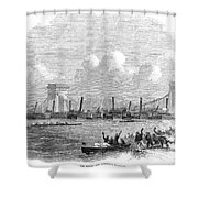 England: Boat Race, 1858 Shower Curtain