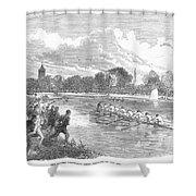 England: Boat Race, 1866 Shower Curtain