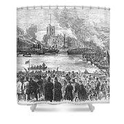 England: Boat Race, 1869 Shower Curtain