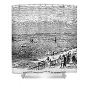 England: Brighton, 1853 Shower Curtain