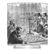 England: Chess Match Shower Curtain