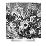 England: Christmas Party Shower Curtain