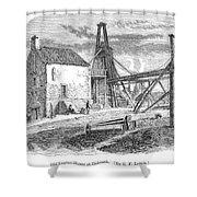 England: Coal Mining Shower Curtain