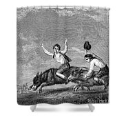 England: Donkey Race Shower Curtain