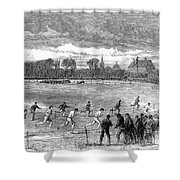 England: Foot Race, 1866 Shower Curtain