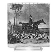 England: Fox Hunt, 1832 Shower Curtain