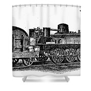 England: Locomotive, C1831 Shower Curtain
