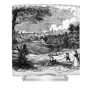 England: Manchester, 1842 Shower Curtain