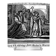 England: Martyr, 1550 Shower Curtain by Granger
