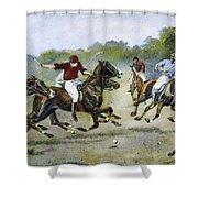 England: Polo, 1902 Shower Curtain