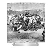 England: Rugby (1871) Shower Curtain