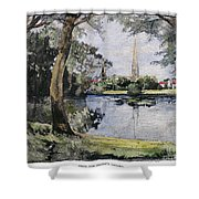 England: Salisbury Shower Curtain