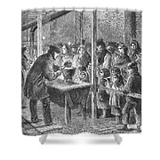 England: Soup Kitchen, 1862 Shower Curtain