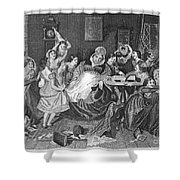 England: Village School Shower Curtain