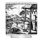 England: Water Mill Shower Curtain