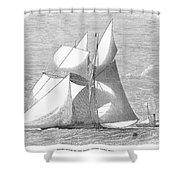 England: Yacht Race, 1868 Shower Curtain
