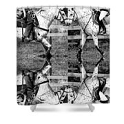 English And Western Collide Shower Curtain