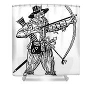 English Archer, 1634 Shower Curtain by Granger