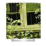 English Countryside Window Shower Curtain