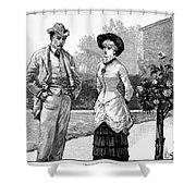 English Couple, 1883 Shower Curtain