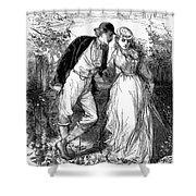 English Couple, C1870 Shower Curtain