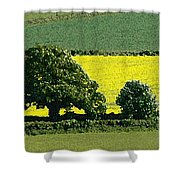 English Field Of Yellow 2 Shower Curtain