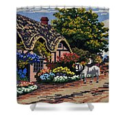 English Tapestry Shower Curtain
