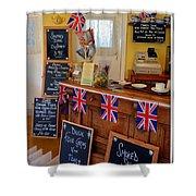 English Tearoom Shower Curtain