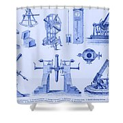 Engraving Of Historical Astronomy Shower Curtain