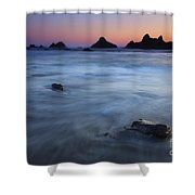 Engulfed By The Tides Shower Curtain