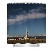 Ensign Drilling Rig 125 Shower Curtain