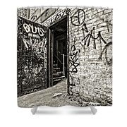 Enter And Proceed With Caution Shower Curtain
