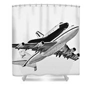 Enterprise Shuttle Ny Flyover Shower Curtain by Regina Geoghan