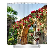 Entrance Arch With Flowers Shower Curtain