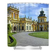 Entrance To Wilanow Palace - Warsaw Shower Curtain