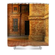 Entry To The Spanish Pavillion In Sevilla Spain Shower Curtain