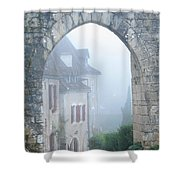 Entryway To St Cirq In The Fog Shower Curtain