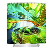 Envious Thoughts Abstract Shower Curtain