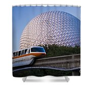 Epcot And Monorail Shower Curtain