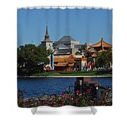 Epcot China And Norway Shower Curtain