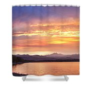 Epic August Colorado Sunset  Shower Curtain